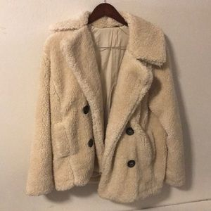 Free People teddy pea coat